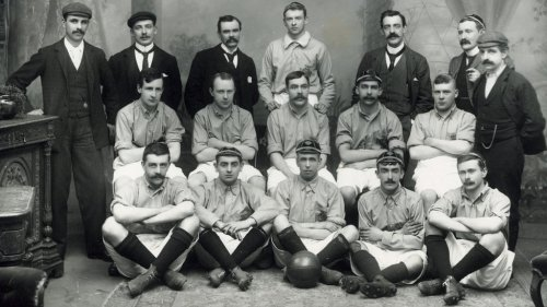 The Ireland side which faced Wales in Llandudno 1900