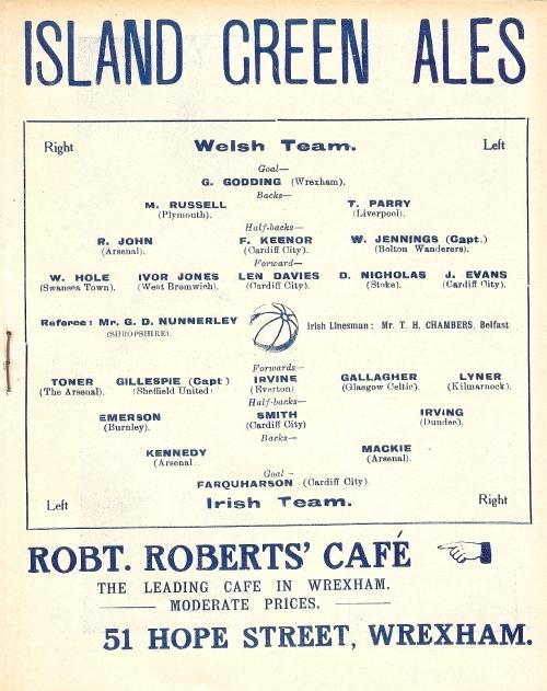 Wales v Ireland Programme 1923  (5)