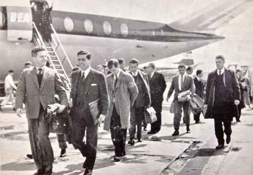 IFA Secretary Billy Drennan Meets The Albanian Party At Nutts Corner Airport