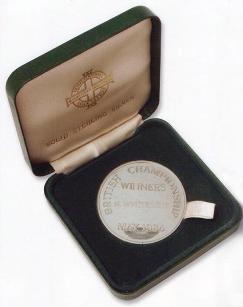 Norman Whiteside's British Championship Winning Medal